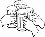 Beer Cheers Coloring Pages Clipart Holiday Clip Cliparts Printable Library Getcolorings Tocolor Button Using Case sketch template