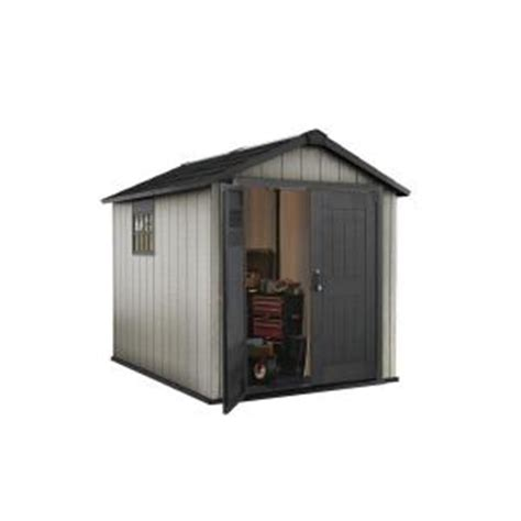 keter oakland 7 5 ft x 9 ft plastic shed 224448 the