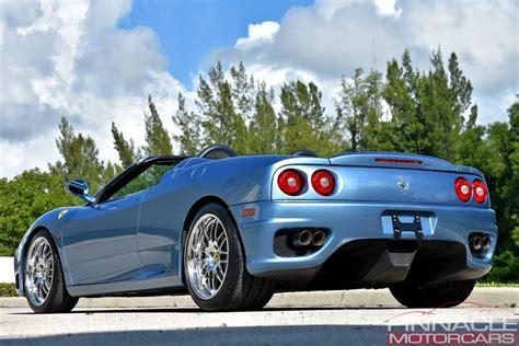 Possible, je ne m'y connais pas fort en ferrari. 2001 Ferrari 360 SPIDER/SPIDER F1 | Pinnacle Motorcars