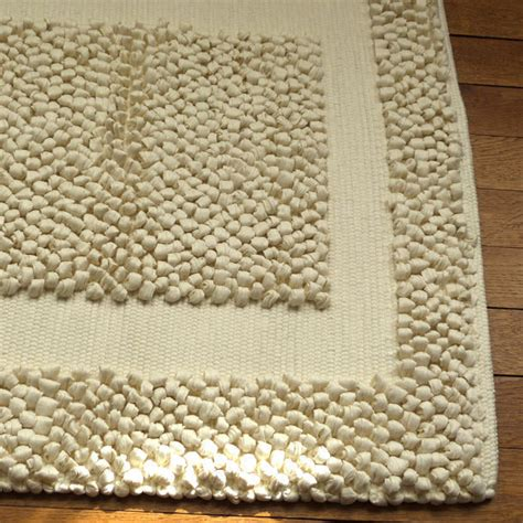 tapis bain beige 233 pais tissage artisanal effet massant