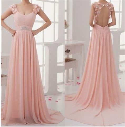 light blush pink dress one shoulder simple light pink long dress ebay