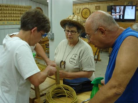chair caning class  marc adams school  woodworking
