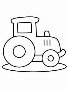 Kleurplaat Voor Peuters Gemakkelijke Tractor