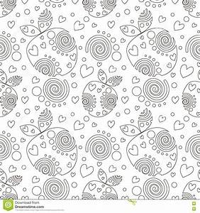 black and white ornamental seamless vector pattern cartoon With repeating timer no2