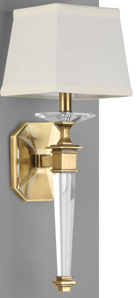 L Sconce - solid sconce with antiqued brass details wall