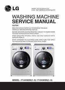 Lg F1443kds F1243kds Washing Machine Service Manual