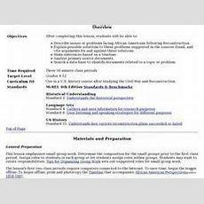 Reconstruction Lesson Plans & Worksheets  Lesson Planet