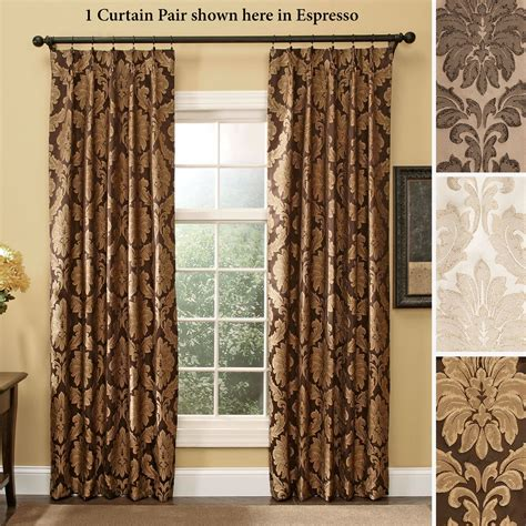 drapes pinch pleat darby damask pinch pleat curtain pair drapes