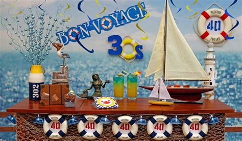 nautical theme birthday party decorations  adults