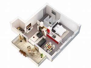 plan 3d d39appartement studio multimedia 3d at home With plan d appartement 3d