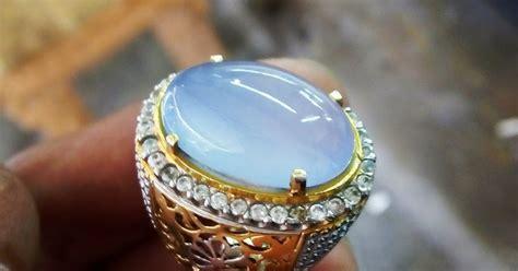 mentah biru sumatra no 13 batu akik indonesia biru langit bt raja ring perak murni