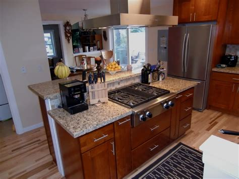 range in kitchen island remodeled kitchen island with commercial gas range top yelp