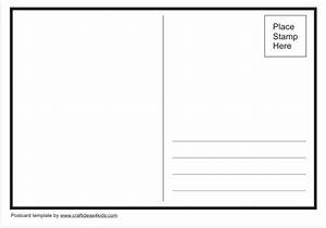 postcard template craft ideas for kids With postcard size template word