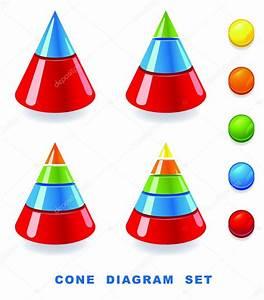 Cone Diagram Set   U2014 Stock Vector  U00a9 Spline X  8722246