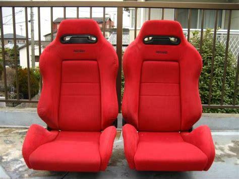 honda jdm seat recaro bride dc integra type  civic ek black red cars pinterest