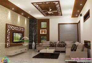 living bedroom kitchen interior designs kerala home With interior design ideas for living room and kitchen in india