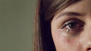 Tears In A Female Girl Sad Eye. Crying Woman Stock Footage ...