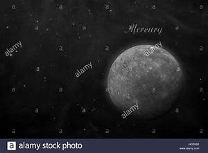 Planet Mercury. Space background Stock Photo, Royalty Free ...