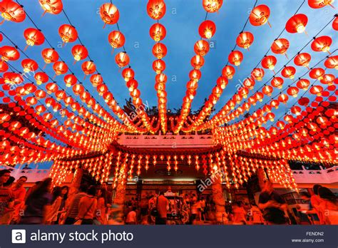 The Lanterns Of Thean Hou Temple During The Chinese New Year, Kuala Stock Photo, Royalty Free