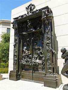 File:Gates of Hell sculpture by Rodin; angled view from ...