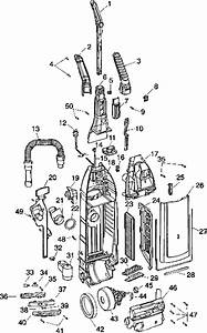 Hoover U6423 Windtunnel Self Propelled Upright Vacuum Parts List  U0026 Schematic