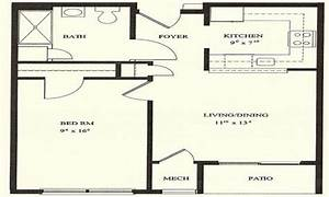 1 bedroom house plans 1 bedroom floor plans 1 bedroom for One bedroom plan of a house