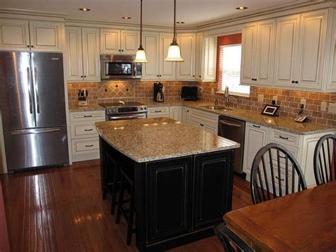 white kitchen cabinets black island kitchen cabinets with black island oak hardwood 1792