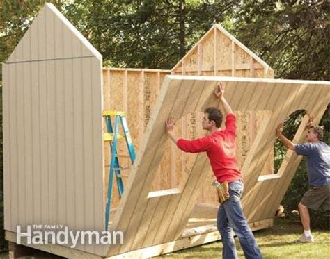 build outdoor shed how to build a cheap storage shed the family handyman