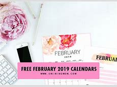 12 Free Printable February 2019 Calendar and Planners