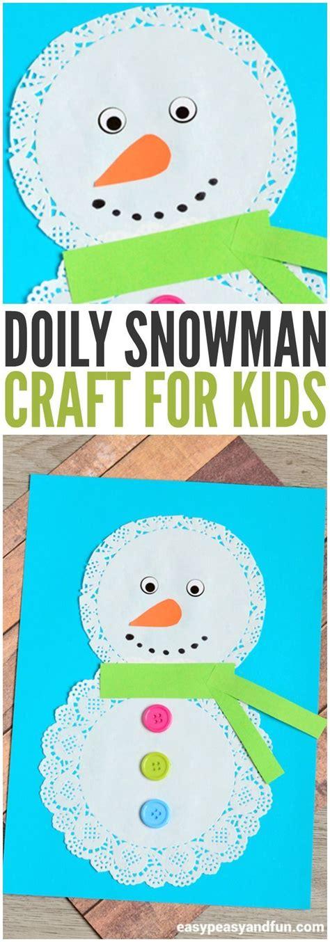 doily snowman craft christmas crafts winter crafts