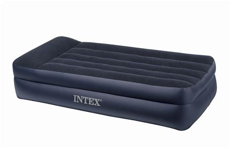 intex twin pillow rest raised airbed fitness sports
