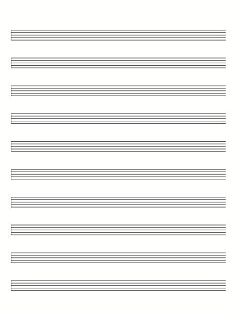 Score & Tablature Free Template Download Pdf  Mando Montréal