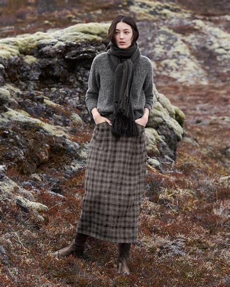 poetry fashion de poetry fashion wool check skirt de cuadritos
