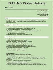 resume for child child care worker resume