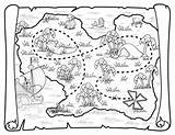 Treasure Pirate Map Coloring Pages Printable Pirates Neverland Jake Maps Deviantart Toys Ship Disney Colouring Birthday Party Squidoo Blank Craft sketch template