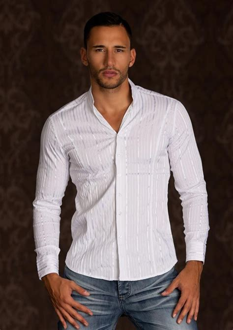 chemise homme blanche raye tres classe par uncadeauunsourire chemise homme collection 2014