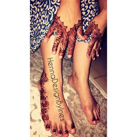 Henné Pied Simple Henna Design By Ines Prestations De Tatouage Au
