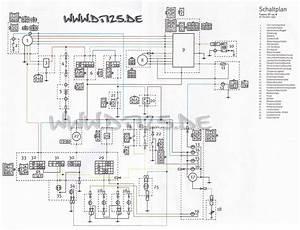 Schaltplan Von Einem Motorrad Verstehen  Yamaha Dt 125