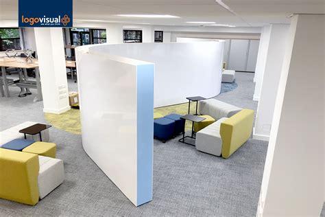 setting   flexible  working office logovisual