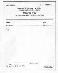 free prescription template prescription pads With doctor prescription format
