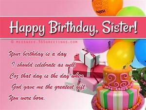 Birthday wishes For Sister, that warm the heart ...