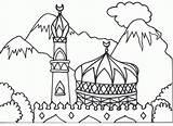 Coloring Mosque Arabic Islamic Colouring Pages Masjid Muslim Ramadan Alphabet Children Books Drawing Hajj Sheet Printable Cabinet Getcolorings Crafts Mewarnai sketch template