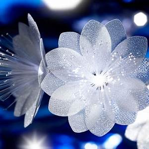 Guirlande Lumineuse Fleur : guirlande fleurs blanches fibre optique blanche ~ Teatrodelosmanantiales.com Idées de Décoration