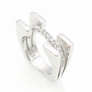 filled plated 925 silver ring and cubic zirconia ring With romantic wedding rings