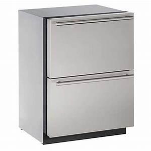 "U-LINE 24"" Stainless Drawer Refrigerator | West Marine"