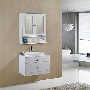 Spiegelschrank Mit Ablage : songmics spiegelschrank badschrank h ngeschrank spiegel mit ablage schminkschrank aus holz 56 x ~ Watch28wear.com Haus und Dekorationen