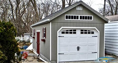 one car garage 1 car prefab garage one car garage shed horizon structures