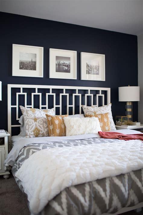 bloggers navy  mustard bedroom blue