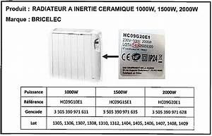 Radiateur A Inertie Ceramique 2000w : rappel d 39 un radiateur inertie bricelec ~ Melissatoandfro.com Idées de Décoration