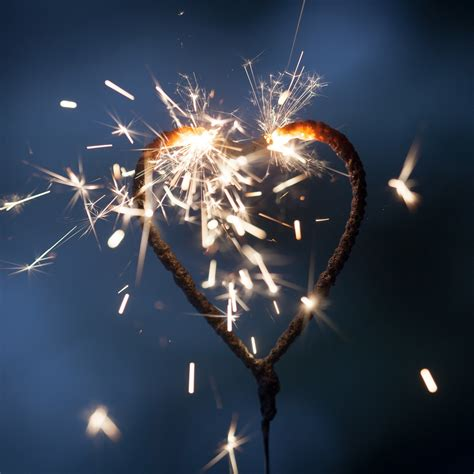 5 Heart Shaped Wedding Sparklers